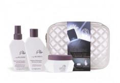 L'ALGA Набор Термозащита волос со спреем (шампунь 100 мл, спрей 100 мл, маска 100 мл, косметичка) Seazone Beauty Bag