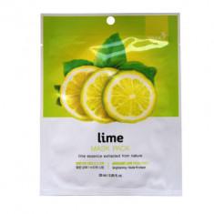 Тканевая маска для лица с экстрактом лайма BERGAMO Lime Mask Pack 28 мл