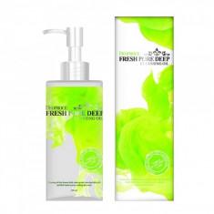 масло очищающее для лица виноградное deoproce cleansing oil fresh pore deep