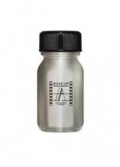 Кремовая краска для лица и тела Make-Up Atelier Paris AQAR серебристый металлический