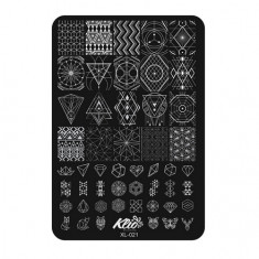 Klio Professional, Пластина для стемпинга №021