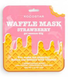 Маска вафельная тонизирующая с экстрактом клубники Kocostar Waffle Mask Strawberry 40г