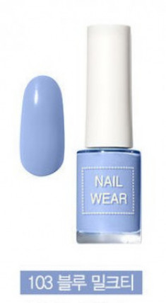Лак для ногтей THE SAEM Nail wear 103. Blue Milk Tea