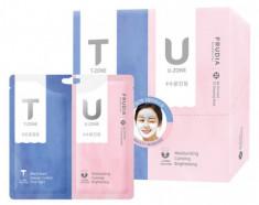 Маска с розовой и черной глиной для комбинированной кожи Frudia My Orchard TU Drawing Mask 7г+7г