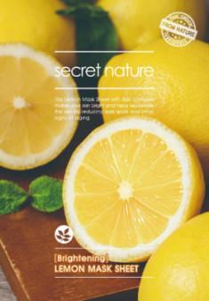 Тканевая маска для лица с лимоном Secret Nature Brightening Lemon Mask Sheet 25 мл