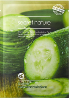 Тканевая маска для лица с огурцом Secret Nature Cooling Cucumber Mask Sheet 25 мл