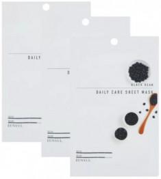 Набор Тканевых масок с экстрактом черных бобов EUNYUL BLACK BEAN DAILY CARE SHEET MASK 22г*3 шт
