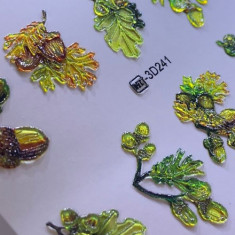 AnnaTkacheva,3D-слайдерCrystalHT№241 «Листья. Веточки» Anna Tkacheva