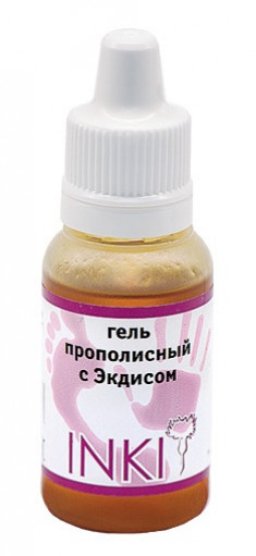 INKI Гель прополисный c экдисом / Propolis gel with ekdys 15 мл