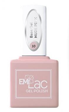 E.MI База камуфлирующая для ногтей, № 10 нюдово-розовый / E.MiLac Base Gel 9 мл