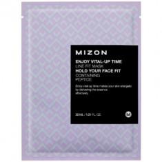 Тканевая маска для подтяжки овала лица MIZON Enjoy Vital-Up Time Line Fit Mask