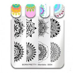 Born Pretty, Пластина для стемпинга Mandala №004