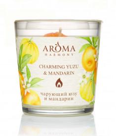 AROMA HARMONY Свеча ароматическая Юзу и Мандарин 160 г
