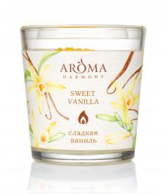 AROMA HARMONY Свеча ароматическая Сладкая ваниль 160 г