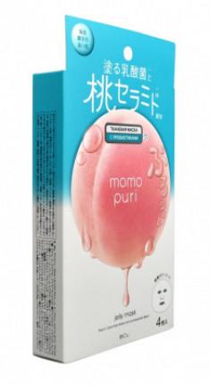 Набор тканевых масок с лактобактериями, витаминами А,C,E и керамидами BCL MOMO PURI 22 мл*4шт