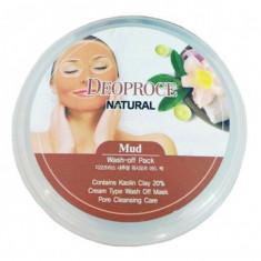 маска для лица глиняная deoproce mud wash-off pack
