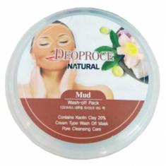 Маска для лица глиняная DEORPOCE MUD WASH-OFF PACK 100г DEOPROCE