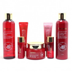 набор антивозрастных средств с экстрактом граната deoproce whitening & anti-wrinkle pomegranate 5 set