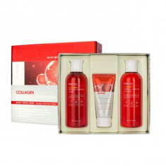 набор средств по уходу за кожей с коллагеном farmstay collagen essential moisture skin care 3 set