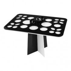 IRISK, Подставка-органайзер для сушки кистей, 26 ячеек, черно-белая