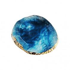 Masura, Палета для дизайна ногтей «Золотой срез агата», голубая
