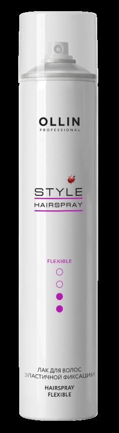 OLLIN PROFESSIONAL Лак эластичной фиксации для волос / STYLE 450 мл