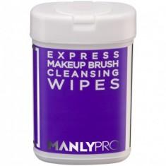 Экспресс-очищающие салфетки для макияжных кистей с антибактериальным эффектом Manly Pro КО09 50шт