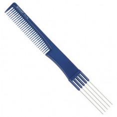 Dewal, Расческа с металлическими зубцами, синяя, 19 см