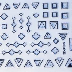 Anna Tkacheva, 3D-стикер №039 «Геометрия. Фигуры», черный