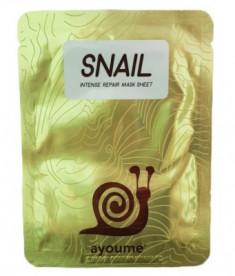 Маска тканевая с муцином улитки AYOUME Snail Intense Repair Mask 20мл