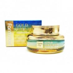 питательный крем с золотом и коллагеном farmstay gold collagen nourishing cream