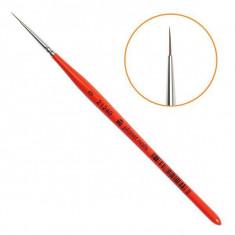 Planet nails, кисть для дизайна круглая, натуральная, №0