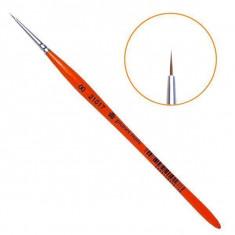 Planet nails, кисть для дизайна круглая из волоса колонка, №00