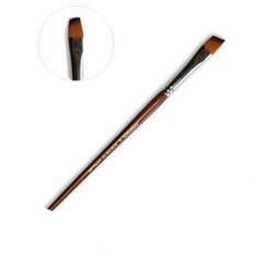 живопись, кисть художественная, скошенная, оранжевая синтетика, №4 Polycolor
