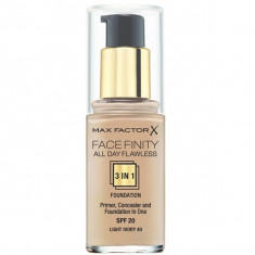 Max factor facefinity all day flawless, тональная основа 3в1, тон 40, light ivory, 30 мл