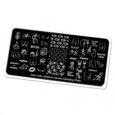Swanky Stamping, Пластина для стемпинга Koba Nails Studio №83