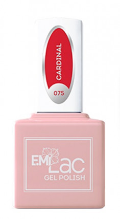 E.MI 075 DV гель-лак для ногтей, Кардинал / E.MiLac 6 мл