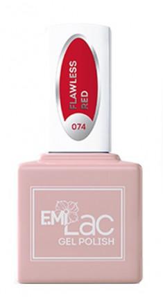 E.MI 074 DV гель-лак для ногтей, Безупречный красный / E.MiLac 6 мл