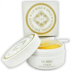 La Miso Gold Hydrogel Eye Patch Гидрогелевая маска с частицами золота для кожи вокруг глаз банка 60шт