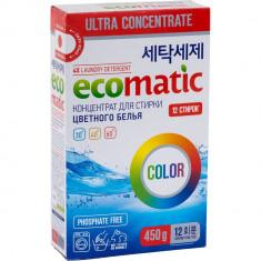 Ecomatic Color Концентрированный стиральный порошок 450г