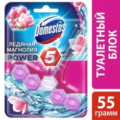 Domestos Блок для очищения унитаза Power 5 ледяная магнолия 55г