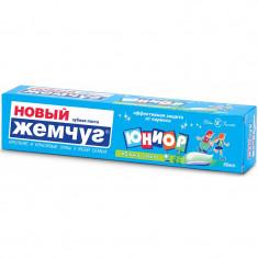 Новый жемчуг Зубная паста Юниор Яблоко + мята 50мл НОВЫЙ ЖЕМЧУГ