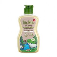 BioMio BIO-CARE средство для мытья посуды овощей и фруктов без запаха с экстрактом хлопка и ионами серебра 315мл