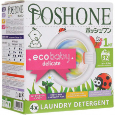 Posh One Ecobaby Delicate Стиральный порошок для детского белья 1кг