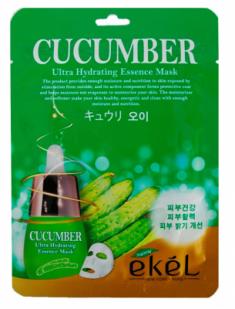 Тканевая маска для лица с экстрактом огурца EKEL Cucumber Ultra Hydrating Essence Mask 25г