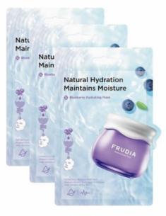Увлажняющая тканевая маска с черникой Frudia Blueberry Hydrating Mask 20мл*3шт