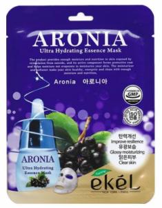 Тканевая маска для лица с экстрактом аронии EKEL Aronia Ultra Hydrating Essence Mask 25г