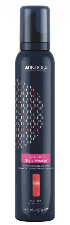 INDOLA Мусс оттеночный для укладки волос, красный / Color Style Mousse 200 мл