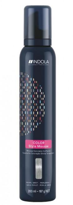 INDOLA Мусс оттеночный для укладки волос, жемчужный серый / Color Style Mousse 200 мл