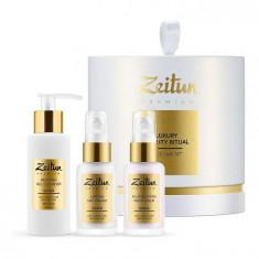 ZEITUN Набор для естественного омоложения кожи: гель для умывания, крем-лифтинг, ночной омолаживающий бальзам / Luxury Beauty Ritua